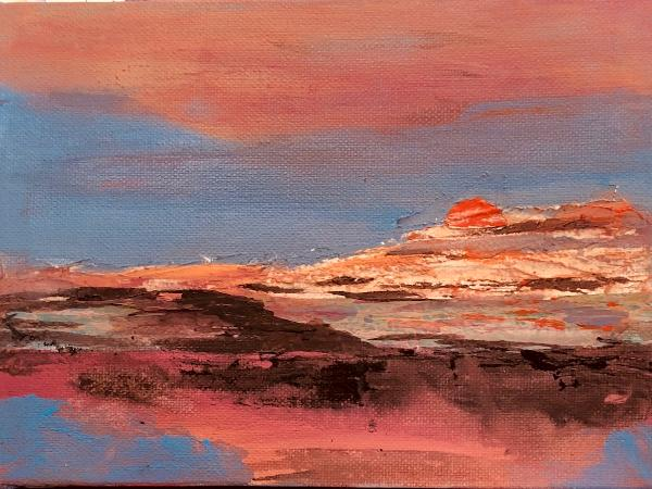 Sunset   Acrylic-canvas- 6x8
