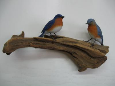 Pair Life size Bluebirds