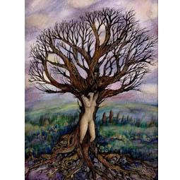 Dryad Tree Goddess Art Print from an original painting by Liza Paizis