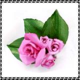 Pink Rose Bouquet Posy Pin or Hair Clip