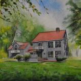 Custom of a house in Sewickley, 38cm x 28cm, 2020