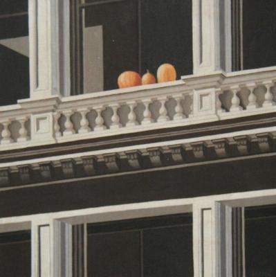 """Pumpkins on Mercer 18"""" x 18"""""""