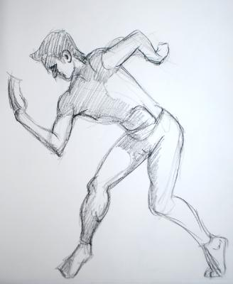 Man with Contorted Gesture