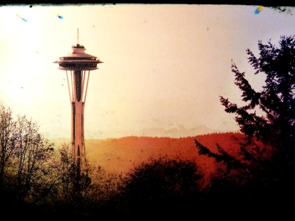 Digitally Altered Space Needle