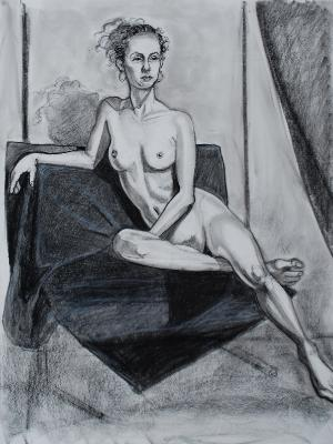 Brittany, Seated Nude