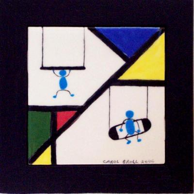 """framed 4"""" tile"""