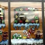 Ginger bread windows house
