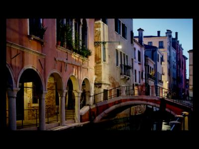 Pink Archways on an Ancient Venetian Canal