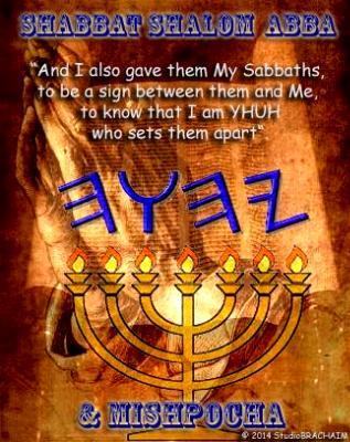 Eze 20:12 ~Shabbat Shalom