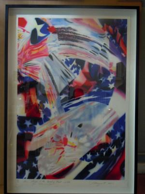 """James Rosenquist """"Stars and Stripes at the Speed of Light"""" 2010"""