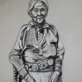 Native American Woman with Silver Belt