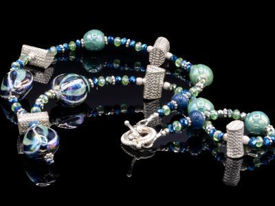Ceramic Teal Necklace