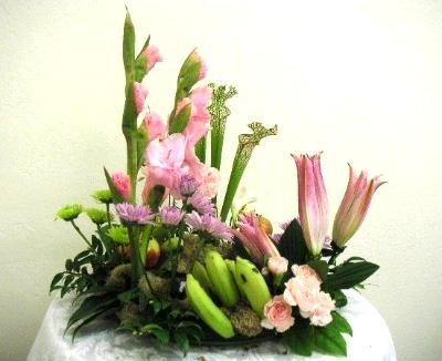 garden arrangement featuring bananas