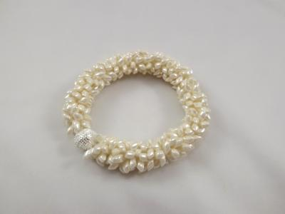 B-63 pearly ivory spikey bracelet