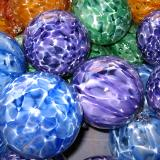 The other side of the rainbow ..blown glass ornaments