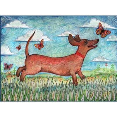 """""""Simon"""" dachshund greeting note card"""