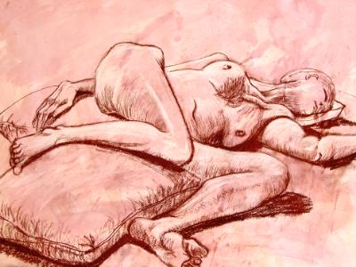 Sleeping Female Figure
