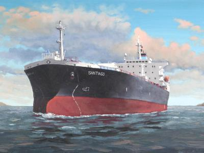 "Ecuadorian oil carrier ""Santiago"", 120cm x 60cm, 2013"