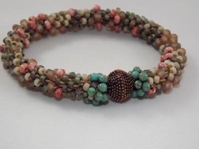 B-46 southwest style crocheted rope bracelet