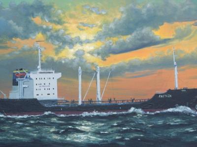 "Ecuadoarian oil carrier ""Pastaza"", 120cm x 60cm, 2013"