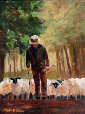 The Shepherd - 11x14 - oil