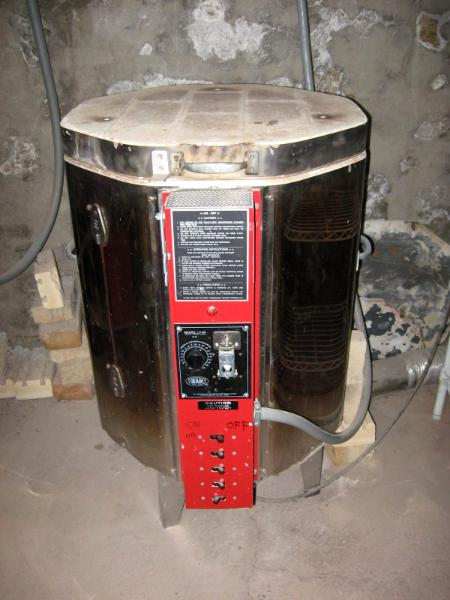 Glaze load in the small kiln