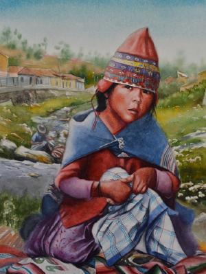 Andean innocence, 38cm x 56cm, 2019