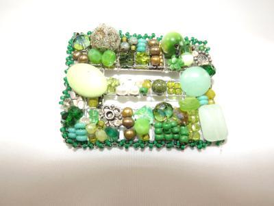 Green Buckle Brooch