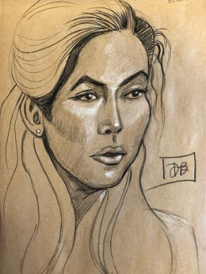 Elicia, Charcoal Portrait (Sold)