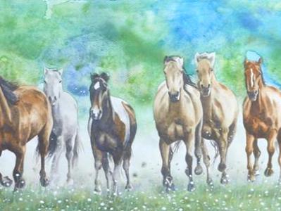 Wild horses, 120cm x 60cm, 2014