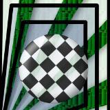 checkered circle