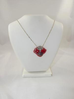 N-86 Red Mosaic Necklace