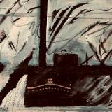 Last Voyage - Acrylic Abstrac- 8x10