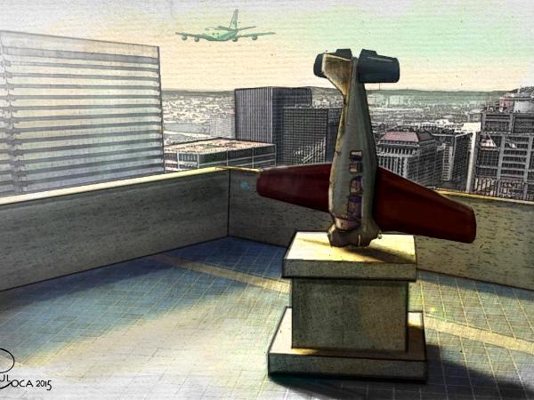 Pedestal Plane Crash