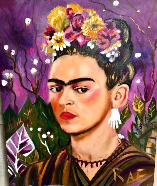 Frida in flowers