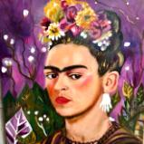 Frida in flowers
