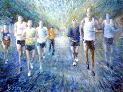 Marathon Runners - SOLD