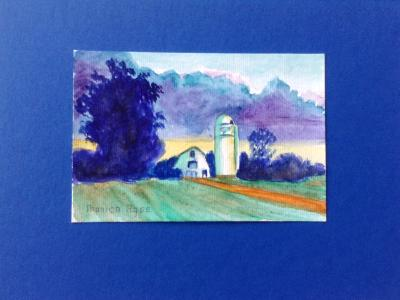Brandenburg Barn 2 8x10 watercolor paper in watercolor