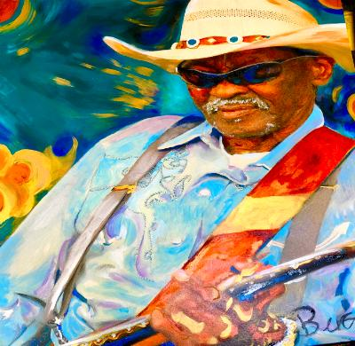 Blues great Clarence Gatemouth Brown