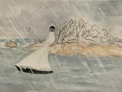 Snow Squall by Ten Pound Island