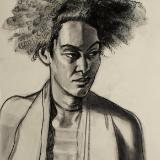 Pidgeon (charcoal portrait)