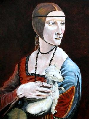 Portrait of a Woman with an Ermine