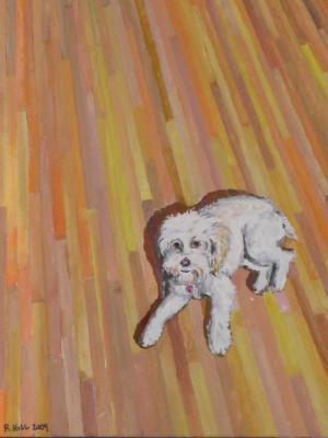 Amber on the Hardwood