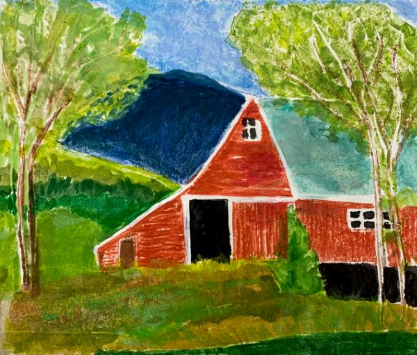 The Red Barn after A Woodbury painting