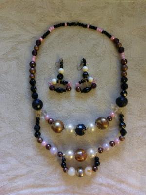Mixed angular necklace set