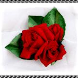 Red Rose Bouquet Posy Pin or Hair Clip