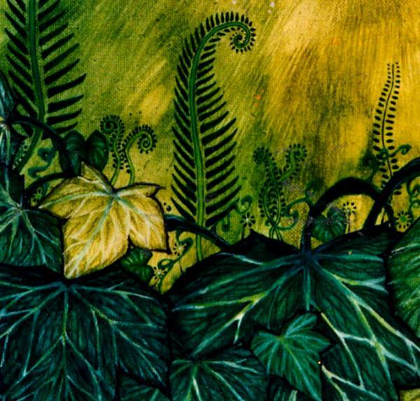 Green Cat fine art print from the original acrylic painting by Liza Paizis