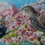 Custom portrait of a bird, 38cm x 56cm, 2019