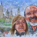 Portrait of a couple, 50cm x 35cm