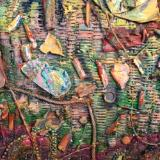 """Detail of Andrea Brown's Woven Painting for """"Mississippi Goddamn"""""""